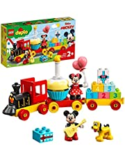 LEGO 10941 DUPLO Disney Mickey & Minnie Birthday Train Toy for Toddlers with Cake and Balloons