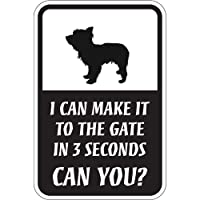 CAN YOU?マグネットサイン:ヨークシャーテリア(スモール) I CAN MAKE IT TO THE GATE IN 3 SECONDS, CAN
