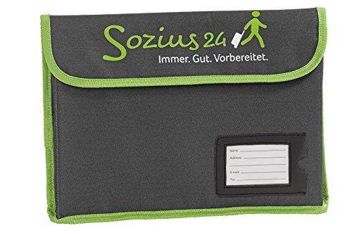 Sozius24 Vorsorgemappe (anthrazit/grün)