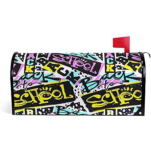 Garten dekorative Back School Gartendekorationen Saison Magnetic Mailbox Cover21 * 18 Zoll 21 * 18 Zoll