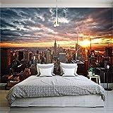 Vinilo decorativo Fondos de fotos personalizados Paisajes de la ciudad de Nueva York Fotografía artística Fondos murales Dormitorio Sala de estar Pared Papel tapiz mural 3D 1㎡(1 metro cuadrado)