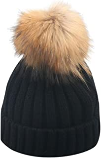 Parent-Child Knitted Crochet Beanie Cap Baby Toddler Adult Hairball Pom Pom 2019 Winter Warm Hemming Hats