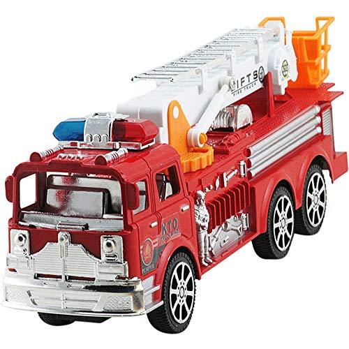 Naliovker Simulation Feuerwehr Auto ZurüCk Ziehen Spielzeug Tr?Gheits Feuerwehr Auto Spielzeug Kinder Spielzeug Auto Gro?E Tr?Gheit Simulation Feuerwehr Auto Leiter Modell Spielzeug