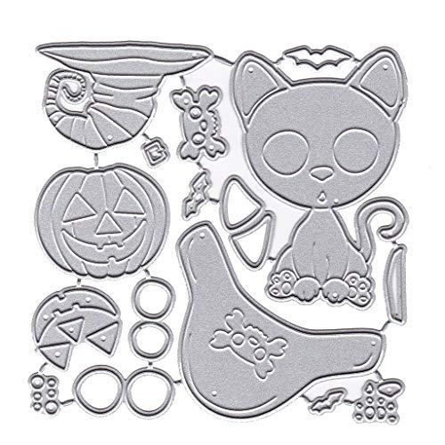Nankod Halloween Katze Kürbis Metall Stanzschablone DIY Scrapbooking Album Stempel