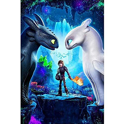 baodanla Geen frame Hoe om te trainen uw draak 2 Movie Poster ng 3D re volledige borduurwerk Children's Gift