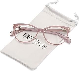 Non Prescription Glasses Frames For Women,Retro Cateye Fake Eyeglasses HD Clear Lens