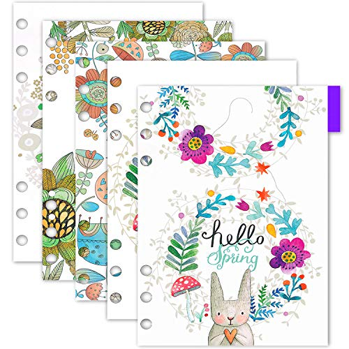Larcenciel A5 Dividers/ PVC Personal Planner Index Divider Organizer, 2 Set 10 Pcs A5 6 Ring Loose Leaf Binder Divider Tab Cards w/ Ruler for Filofax Notebook/ Travel Diary Journal/ Planner, 212x15mm