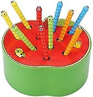 Giocattolo di Legno: Realizzato in di legno materiale di alta qualità, il giocattolo ha una superficie liscia e bordi che proteggono i bambini dai graffi. Giocattoli Educativi: Romanzo divertente giocattolo per bambini che hanno 3 4 5 anni. Il gioco ...