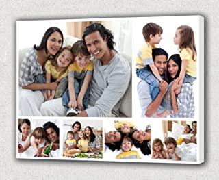 Your Photos on Canvas Collage, Wedding or Family Collage on Canvas (16