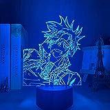 Lámpara de anime 3D Manga D Gray Man Lavi Luz de noche LED para decoración de dormitorio Luz de noche colorida Regalo de anime Lámpara 3D Lavi D Gray Man 16 colores-Control remoto