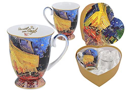 CARMANI Van Gogh - Juego de 2 tazas para café o té (porcelana), diseño de Van Gogh