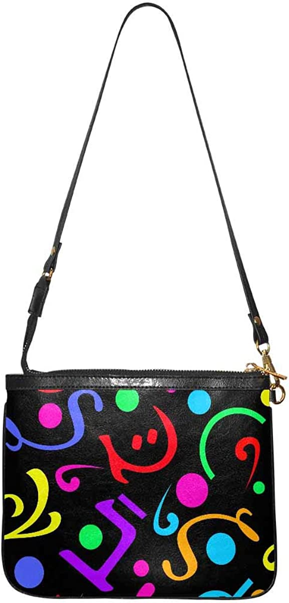 InterestPrint Women's Lightweight Purse and Handbag PU Leather Small Shoulder Bag Patterns with Geometric Shapes
