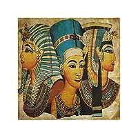 ディナークロスナプキン古代エジプトの羊皮紙家族ディナー結婚式パーティーバンケットレストラン用の4つのキッチンテーブルナプキンのセット-50X 50 CM