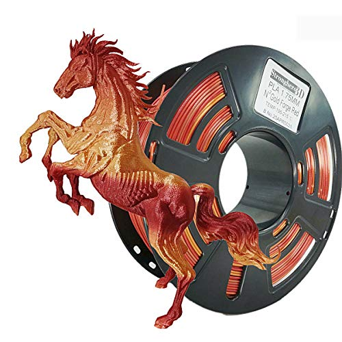 Stronghero3D PLA 3D Printer Filament 1.75 mm N2 1 kg Accuracy +/- 0.05 mm for CR10 Ender3 (Silk Gold/Galaxy Red)