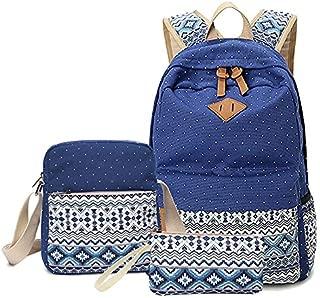 DHINGM 2019 Korean Version of Middle School Student Bag, Female Shoulder Bag Bag, High School Simple Junior High School Backpack, National Fan, Full of Youthful Atmosphere