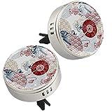 2 PZ Rosso Blu Fan Fiore Giapponese Cinese Modello Aromaterapia Auto Vent Deodorante Olio Essenziale Diffusore con Vent Clip