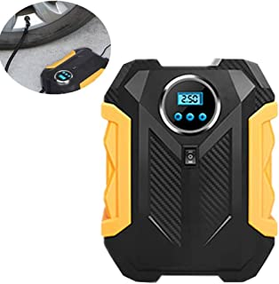 Luftpumpe Elektrisch Akku Luftkompressor Akku Digitale Reifen Inflator Automatische Reifen Inflator Digital Reifen Inflator Mit Manometer Black,One Size