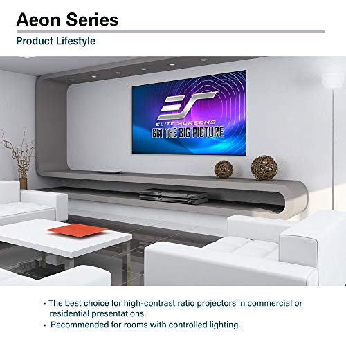 Elite Screens Aeon Series, 138-inch 2.35:1, 8K / 4K Ultra HD Home Theater Fixed Frame EDGE FREE Borderless Projector Screen, CineWhite UHD-B Front Projection Screen, AR138WH2-WIDE