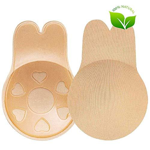 Kvooto Soutiens-Gorge AutoadhéSifs, Push Up Adhesif Soutien Gorge Invisible ImperméAble Respirant RéUtilisable Confortable pour Robes de MariéE de SoiréE, Bikinis 11Cm C/D Cup