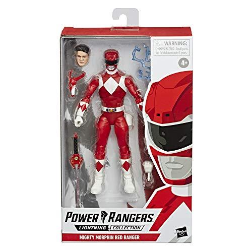 Power Rangers Lightning Collection 15 cm große Mighty Morphin Roter Ranger Action-Figur zum Sammeln mit Accessoires