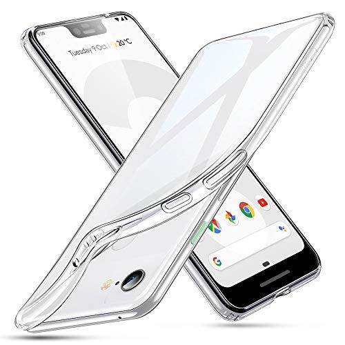 ESR Capa Essential Zero Compatível com o Pixel 3 XL, capa de TPU macia e transparente com cantos acolchoados para o Google Pixel 3 XL (Versão 2012), transparente