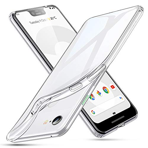 ESR Cover Google Pixel 3 XL 2018, Custodia Gel Trasparente Morbida Silicone Sottile TPU [Ultra Leggera e Chiaro] per Google Pixel 3 XL (Uscito a 2018).