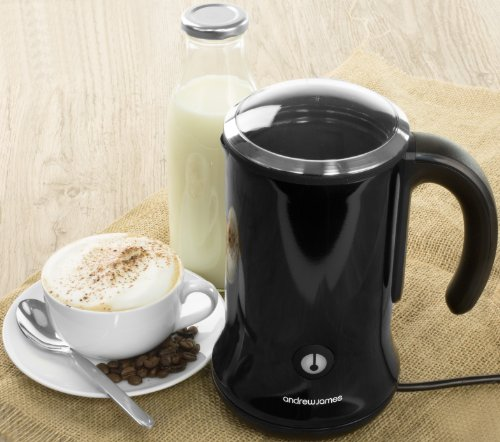 Andrew James Dual Function Electric Milk Frother and Warmer For Hot and Cold Milk