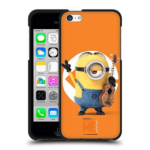 Head Case Designs Ufficiale Despicable Me Stuart Minions Cover Nera in Morbido Gel Compatibile con Apple iPhone 5c