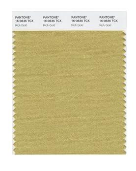 PANTONE Smart 16-0836X Color Swatch Card Rich Gold