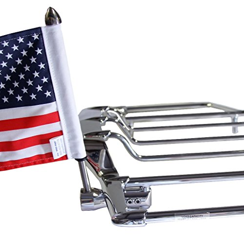 Pro Pad Air Wing Luggage Rack Flag Mount Kit, Fits 1/2-inch Round VERTICAL Bar