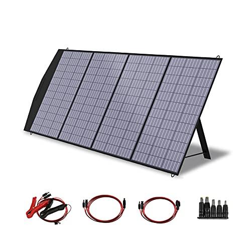 ALLPOWERS Faltbares Solarpanel 200W Solarmodul Solarladegerät Speziell US Solarzelle mit MC-4 Ausgang für Tragbare Powerstation Solargenerator Camping Wohnmobil Caravan Gartenhäuse Reise Boot Laptop