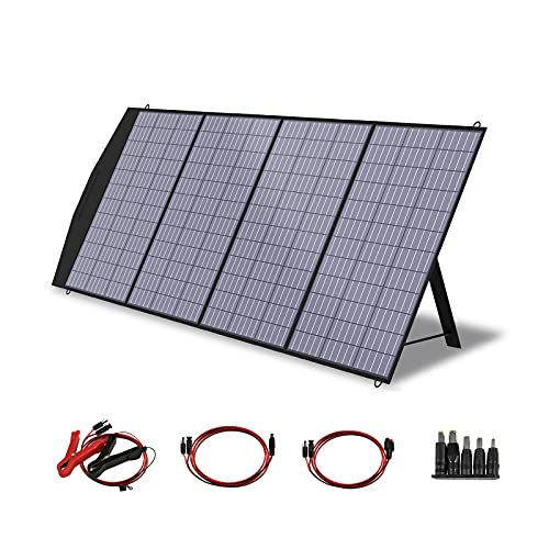 ALLPOWERS Portable Solar Panel Charger 200W Foldable Solar Panel Kit with MC-4 Output Solar Charger Solar Power Backup for Laptops RV Solar Generator Van Camping Off-Grid