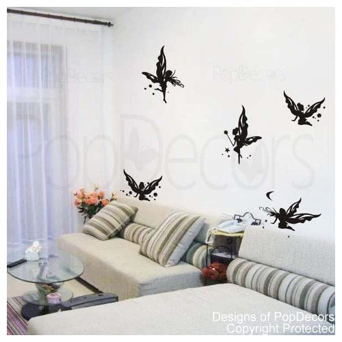 Amazon Com Popdecors Butterfly Fairies In Black Beautiful