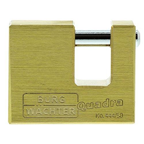 Burg-Wächter Vorhängeschloss, 7 mm Bügelstärke, Kneifschutz, 2 Schlüssel, Quadra 444 50 SB