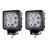 Faro LED, luz de trabajo, para vehículos deportivo y todoterreno, IP67, reflector, focos de marcha atrás, para coches, tractor, camiones