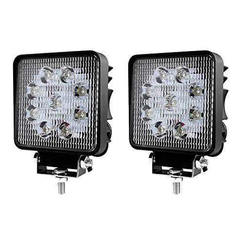 LED Scheinwerfer Arbeitsscheinwerfer Arbeitslicht SUV Offroad IP67 Reflektor Rückfahrscheinwerfer ATV, UTV, Offroad, Traktor, LKW (2 pcs 27W)