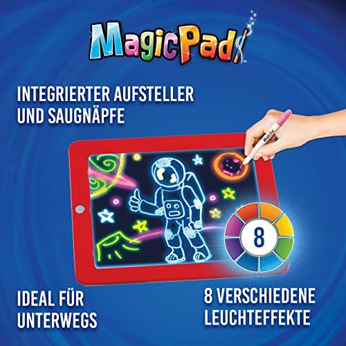 Mediashop Magic Pad – Zaubertafel mit 6 Neonfarben und 8 Leuchteffekten – Kreative Beschäftigung für Kinder, auch unterwegs – Maltafel mit 30 Schablonen, abwischbar – 2 STK. - 2