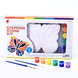 TBC The Best Crafts Paint Your Own Garden Stepping Stone Kit- Butterfly, Great Birthday Gift For Girls of all...
