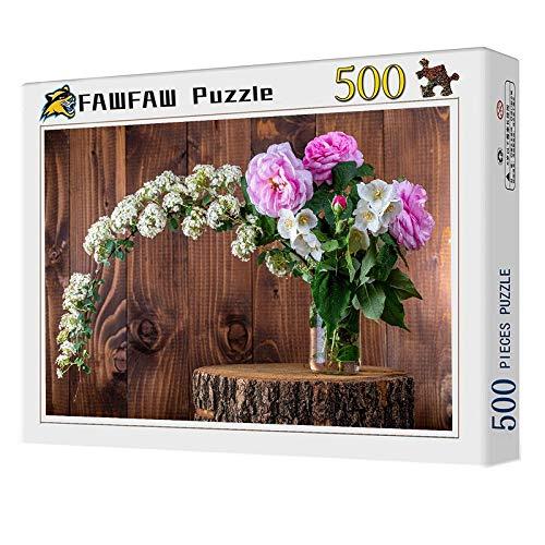 Rompecabezas 500 Piezas, Rosas Flores Ramo Fondo De Tablero 1500/1000/500/300 Piezas