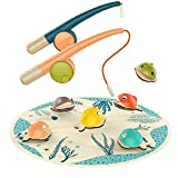 TOP BRIGHT Fishing Toys for 2 Year Old Girls, Gifts for Two Year Old Boy Birthday, Fish Game with 2 Toddler Fishing Poles
