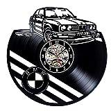 Firmar Coche Disco de Vinilo Reloj de Pared Tienda de automóviles diseño decoración 3D Reloj de Vinilo Retro Reloj de Pared decoración del hogar