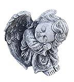 Stone and Style Steinfigur träumender Engel Steinguss frostfest wetterfest Grabfigur Grabengel