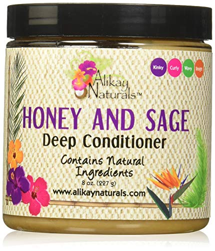 Alikay Naturals Honey And Sage, Deep Conditioner, Yellow, 8 Ounce (LK-10605)