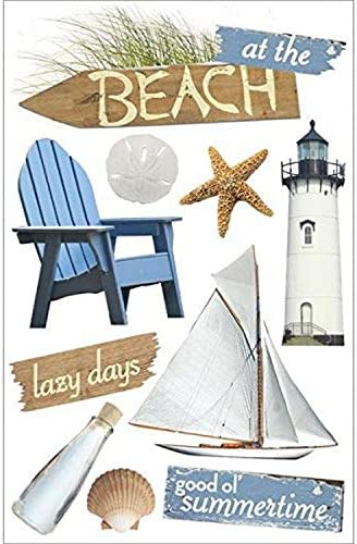 Paper House Productions STDM 0085E 3D Cardstock Stickers At the Beach 4 5 x8 5 product image