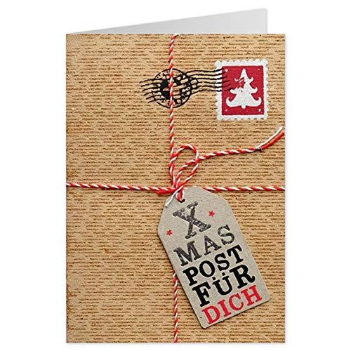 Sheepworld - 90451 - Klappkarte, mit Umschlag, Weihnachten, Nr. 8, Kork, Xmas Post für Dich