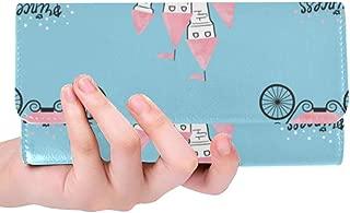 Unique Custom Castle Fairy Tale Knight Prince Princess Romance Animation Women Trifold Wallet Long Purse Credit Card Holder Case Handbag