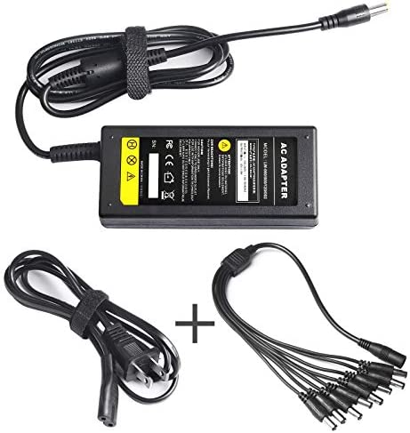 ARyee Security Camera Power Adapter 100V 240V AC to DC 8 Way Power Splitter Cable Power Supply product image