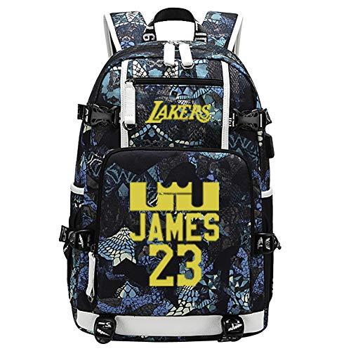 23# James Lakers Sport Zaini per pallacanestro Zaini per uomini-Grande capacità Viaggi Laptop Daypack Escursionismo Daypacks Zaino per bagagli resistente all'acqua, Ergonomico-C