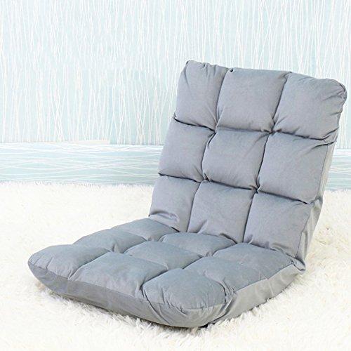 Lazy Sofa Fold Chaise Chambre Salon Tissu Loisirs Fauteuil -LI JING SHOP (Couleur : Gray, taille : 52 * 55 * 56cm)