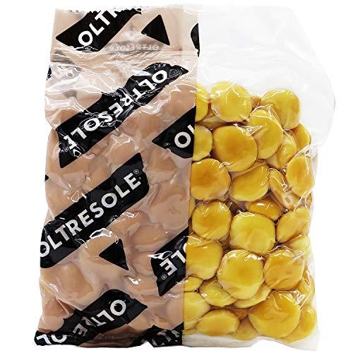Oltresole - Lupini Salati cotti 250 g - snack senza glutine, origine italiana ideali per snack e aperitivi, selezionati in confezione monoporzione sottovuoto